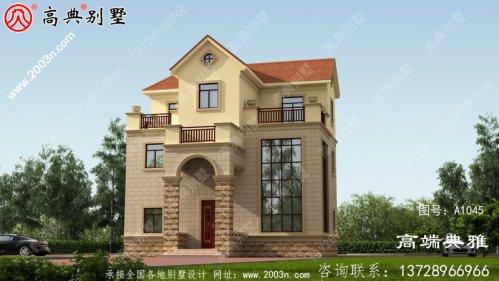造价40万内的欧洲复式三层别墅设