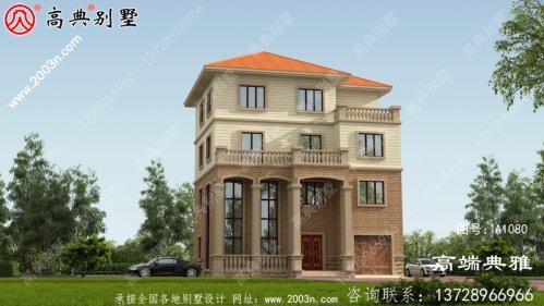 自建新农村豪华欧式四层房屋设计图纸及效果图