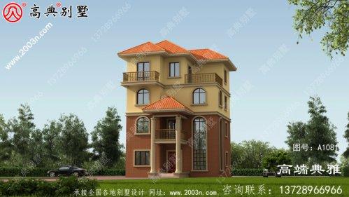 100平方米自建欧洲新农村别墅设计图纸和外部图
