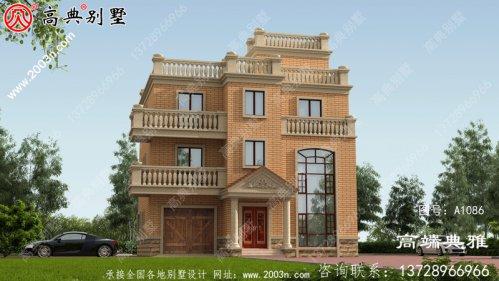 造价40万以内的新农村三层别墅的施工设计图纸和