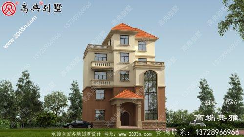 新农村132平的欧式自建五层别墅设计施工图及效