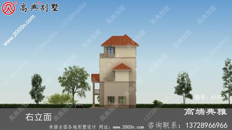 157平方米别墅建筑设计图纸及外观效果图