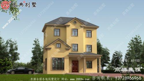 造价在30万以内的新农村三层别墅设计图纸和效果