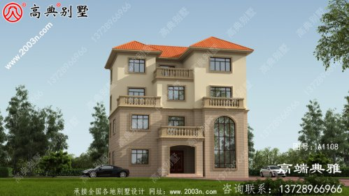 占地168平方米的新农村四层住宅设计图纸和效果