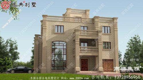 高端欧洲别墅设计图纸,包括效果图、高端大气