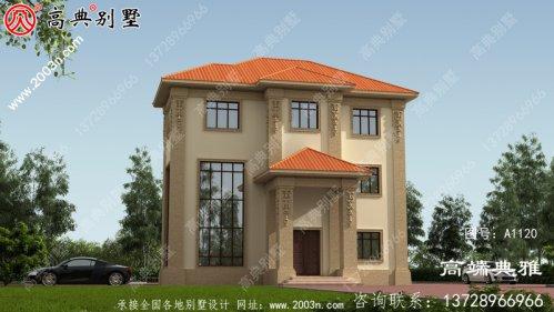 127平方米新农村自建欧式三层别墅