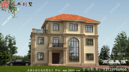 农村自建欧式三层别墅建筑设计图纸及效果图