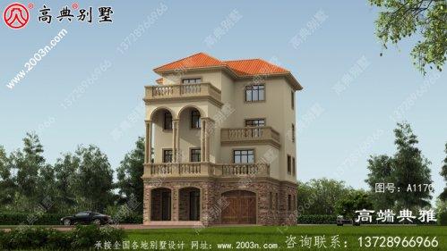 大气实用的四层别墅的设计图和效果图占地141平