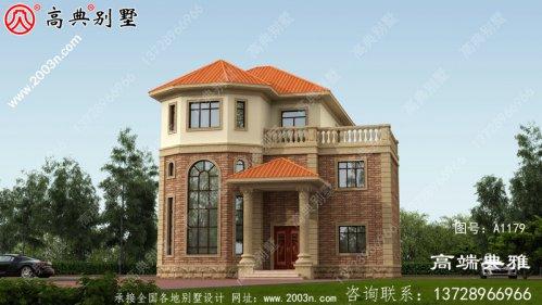 145平方米新农村简欧三层别墅设计,包括外观效