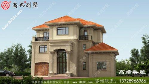 新农村自建带车库三层住宅设计图
