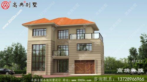简欧新农村住宅设计图集,三层建筑设计图纸精