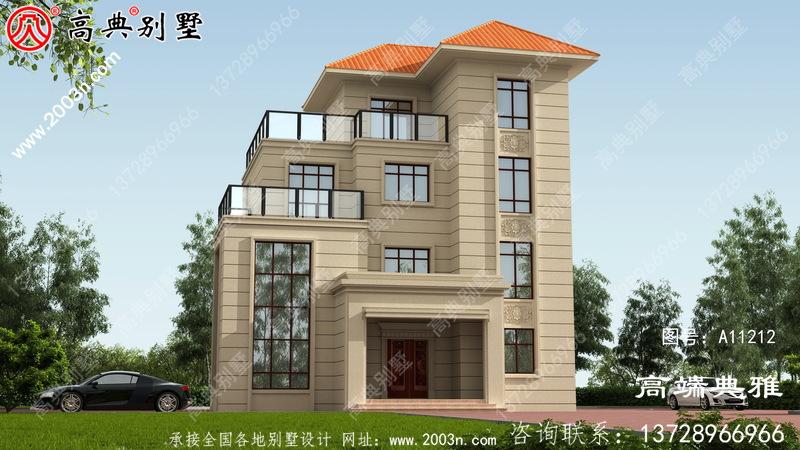 126平方米非常洋气的欧式四层别墅设计施工图