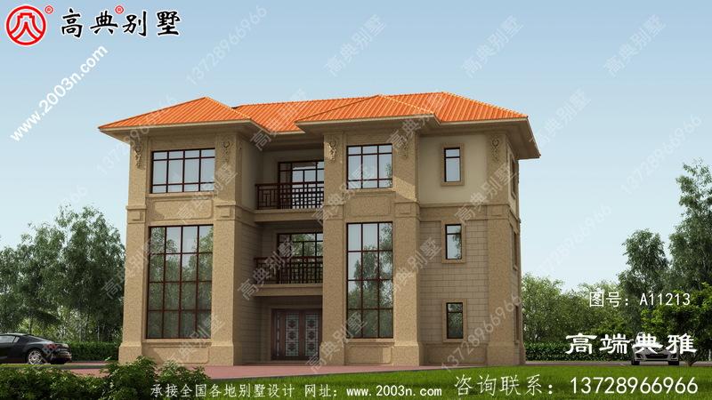 建欧三层带停车位别墅室内设计CAD工程图纸及设计效果图