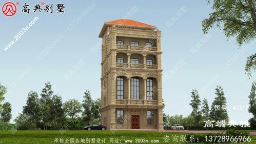六层自建别墅设计方案建筑图纸及设计效果图