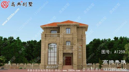 107平方米自建欧洲新农村别墅设计图纸和外部图