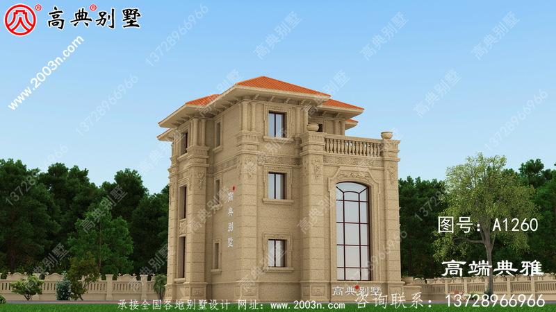 造价40万内的新农村三层别墅建筑设计图纸及效果图