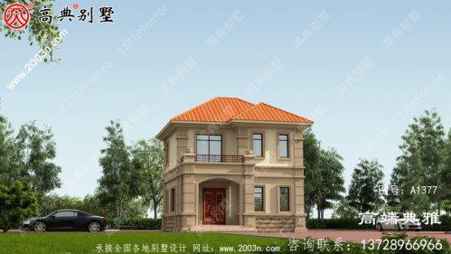 71平方米小户型欧式二层别墅设计施工图及效果图
