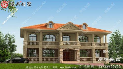 243平农村自建大户型欧式二层别墅房屋设计图