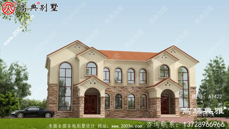 拥有独立厨房的二楼自营住宅设计图、大户型方案