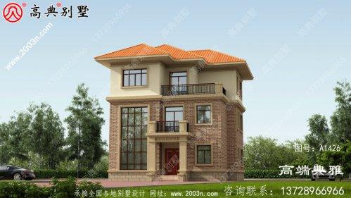 99平方米非常洋气的三层别墅设计施工图