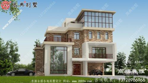 乡村好用好看的四层别墅设计工程图纸及设计效