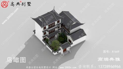 190平方米新农村建设三层住宅设计图及效果图