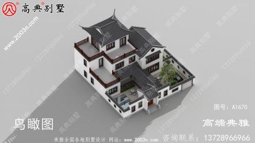 216平方米新农村中式三层自建别墅设计效果图
