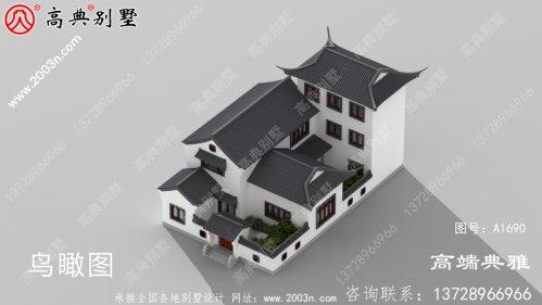 213平大户型中式别墅住宅设计施工
