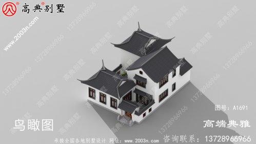 简单的中式二层楼房图片及设计方案,自建楼房