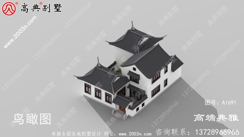 简单的中式二层楼房图片及设计方案,自建楼房必看