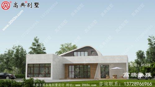 带有外观效果图的现代两层住宅设计图外观时尚