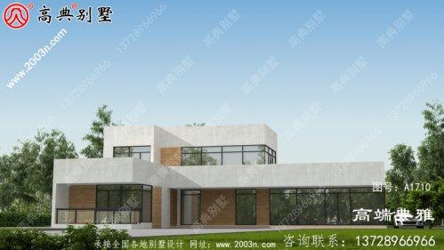 158平米二层现代别墅房屋设计图,简洁舒适