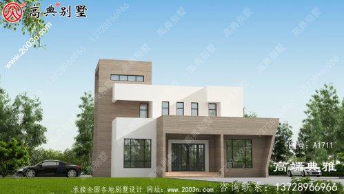 现代三层单户别墅,配有全套自建设计图和效果