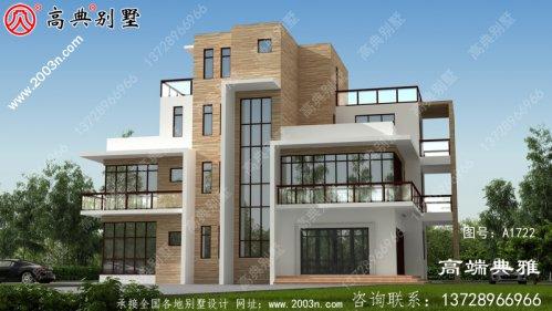自建现代四层别墅设计图及效果图