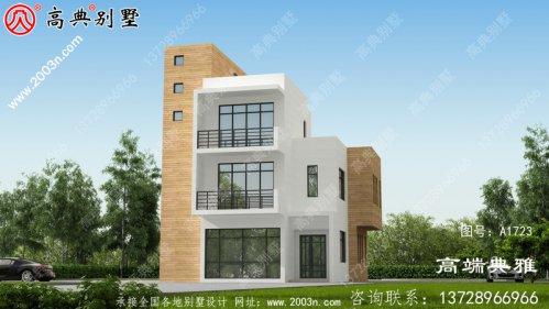 现代三层别墅设计效果图,住宅设计图