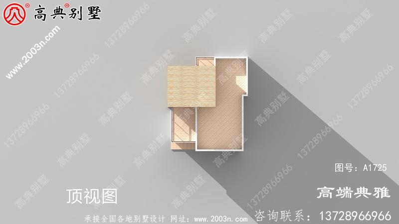 117平方米乡村清新洋气三层别墅设计图纸