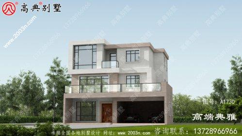 简约大气乡村自建现代三层别墅设计