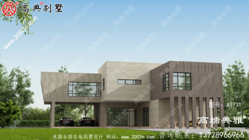 220平方米大户型乡村自建房设计图,双层房屋设