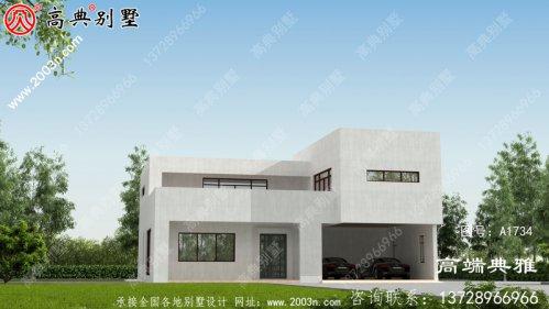 现代两层别墅设计效果图,外型设计效果图美观