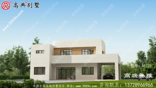 农村自建现代房屋别墅二楼经典设