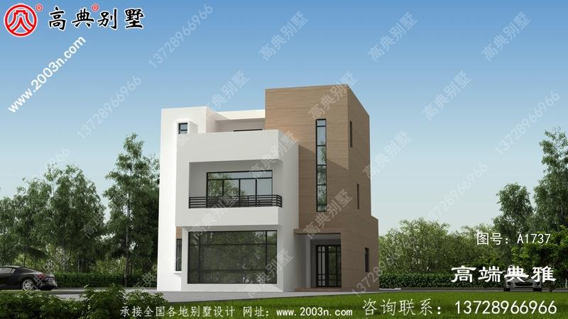 新农村自建现代三层别墅建筑设计