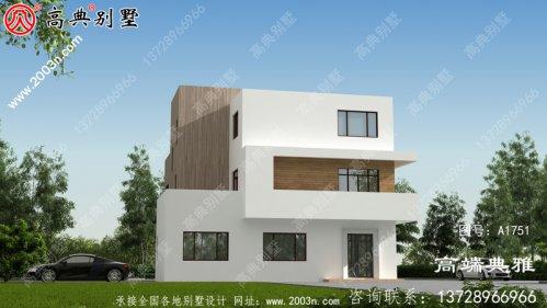 143平方米三层新农村自建别墅设计图