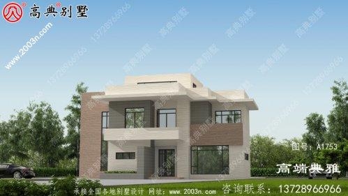 126平米新农村建设现代三层别墅设计图及外型图