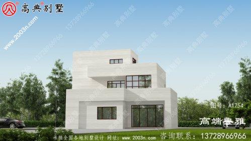 独特现代三层小别墅设计图及设计
