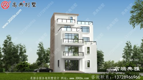 占地139平大户型现代五层别墅设计效果图