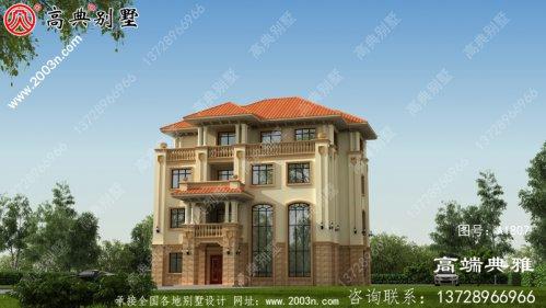 经典大户型欧式四层别墅设计效果图,复式设计