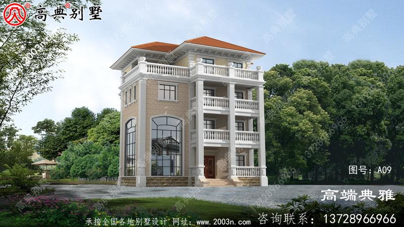 占地157平的四层房屋别墅设计图纸及效果图