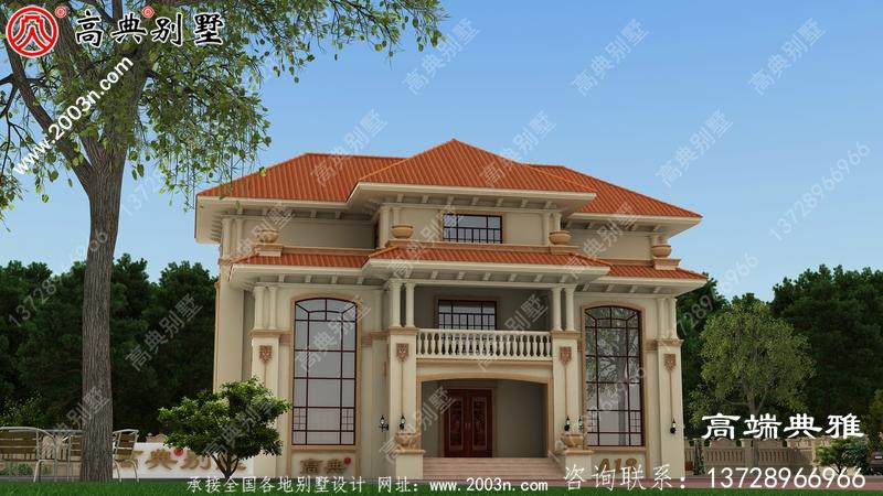 欧式三层双复式住宅设计图占地面积212平