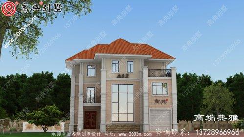 新农村137平方米的三层复式住宅设计图约
