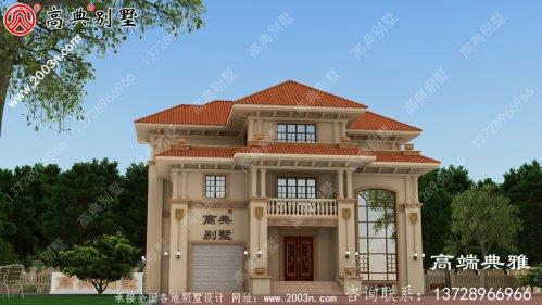 212平方米欧式三层别墅设计CAD图纸带效果图